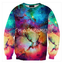 Womens Mens 3D Print Realistic Space Galaxy Animals Sweatshirt Top Jumper321 - $19.99