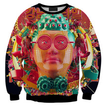 Womens Mens 3D Print Realistic Space Galaxy Animals Sweatshirt Top Jumper322 - $19.99