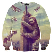 Womens Mens 3D Print Realistic Space Galaxy Animals Sweatshirt Top Jumper317 - $19.99