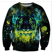 Womens Mens 3D Print Realistic Space Galaxy Animals Sweatshirt Top Jumper331 - $19.99