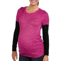 Planet Motherhood Maternity 3/4 Sleeve Chunky Sweater with Contrast Arm NWT - $11.19