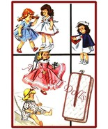 "Vintage Doll Clothing Pattern for 9""-10"" Dolls - $7.99"