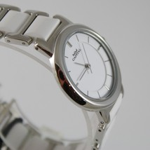 CAPITAL WATCH QUARTZ MOVEMENT 30 MM CASE, STAINLESS STEEL AND WHITE CERAMIC image 2