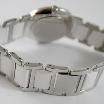 CAPITAL WATCH QUARTZ MOVEMENT 30 MM CASE, STAINLESS STEEL AND WHITE CERAMIC image 3