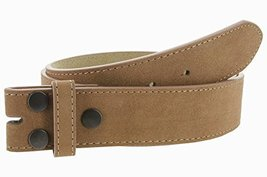 Suede Genuine Leather Casual Jean Belt Strap for Men (Tan, 34) - $11.87