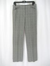 Tahari Black/White Plaid Pant Size 4 - $17.99