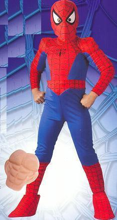 SPIDERMAN with Muscle Chest SIZE 11/14 CHILD'S COSTUME