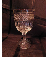 Goblet Clear Pressed Glass - $6.99