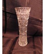 """Vintage Pressed Glass Vase 8"""" Tall - $7.99"""