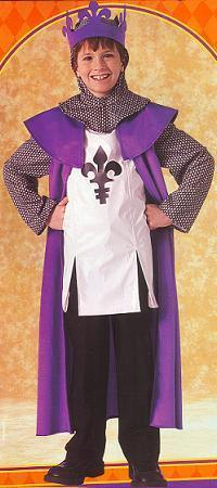 RENAISSANCE KING SZ SM 4/6 CHILD'S COSTUME