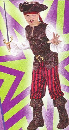 PIRATE BOY size Md 8/10 Childs Costume