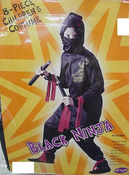 NINJA with Psi's Small 4-6 childs costume