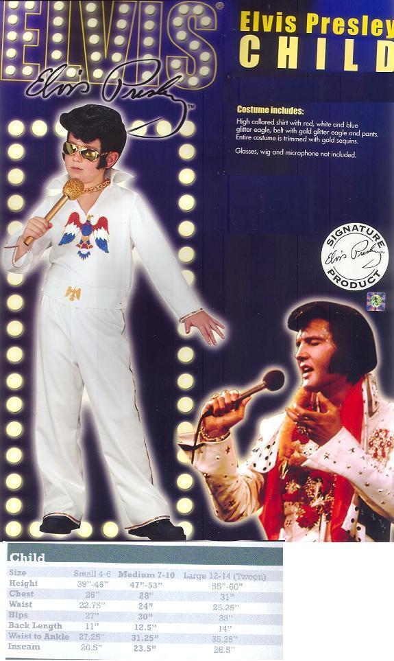 ELVIS COSTUME SZ SM 4/6 CHILD'S