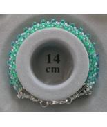 Artisan Turquoise Seed Beaded Kumihimo Bracelet - $21.99