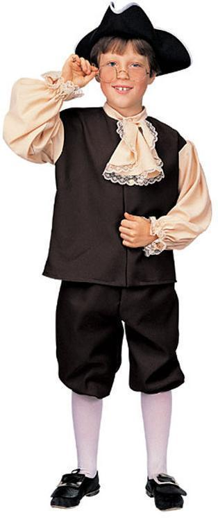 BOY'S COLONIAL COSTUME with HAT 12/14 SZ LARGE