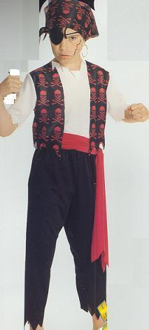 BLACKBEARD THE PIRATE CHLD SZ 12/14 COSTUME