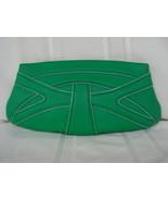 Tahari Fresh Clover Green Leather Clutch - $49.99