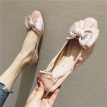 Girls Pink Bow Tie Ballet Flats Slippers Shoes Soft Casual Shoe Wedding ... - £31.79 GBP
