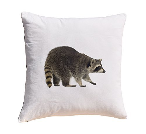 Raccoon Prints 100% Cotton Decorative Throw Pillows Cover Cushion Case