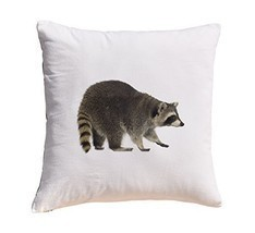 Raccoon Prints 100% Cotton Decorative Throw Pillows Cover Cushion Case - $11.25