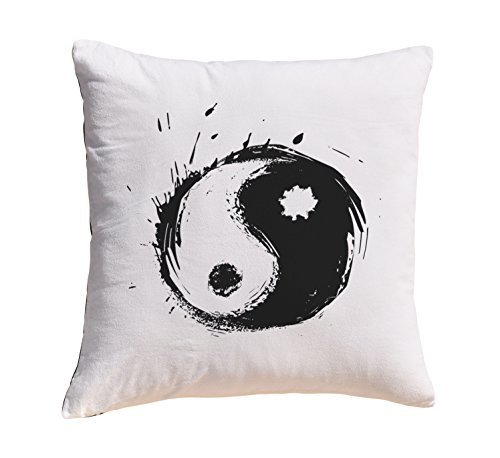 Yin Yang Prints 100% Cotton Decorative Throw Pillows Cover Cushion Case