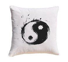 Yin Yang Prints 100% Cotton Decorative Throw Pillows Cover Cushion Case - $11.25