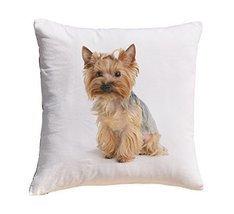 Puppy Yorkshire Terrier 4 Prints 100% Cotton Decorative Throw Pillows Co... - $11.25