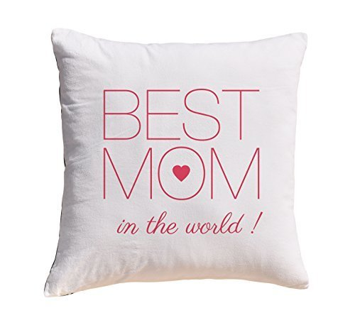 Best Mom in the world Prints 100% Cotton Decorative Throw Pillows Cover Cushi...