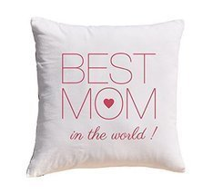 Best Mom in the world Prints 100% Cotton Decorative Throw Pillows Cover ... - $11.25