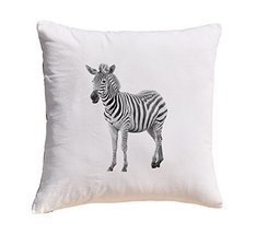 Zebra Prints 100% Cotton Decorative Throw Pillows Cover Cushion Case - $11.25