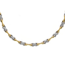 "5.15mm 14K Yellow Gold ""X"" and Infinity Links Chain - $633.60"