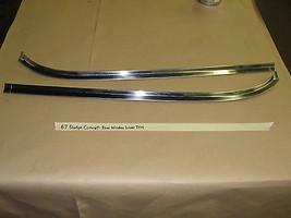 67 Dodge Chrysler Coronet 440 4dr REAR BACK WINDOW WINDSHIELD LOWER MOLD... - $99.99