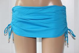 NEW Calvin Klein CYS Blue CG6BS118 Shirred Sides Skirted Bottom Swim Skirt S - $20.78