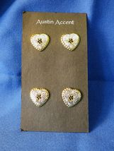 4 Western Heart Pin Back Conchos in Silver and Yellow  - $12.99