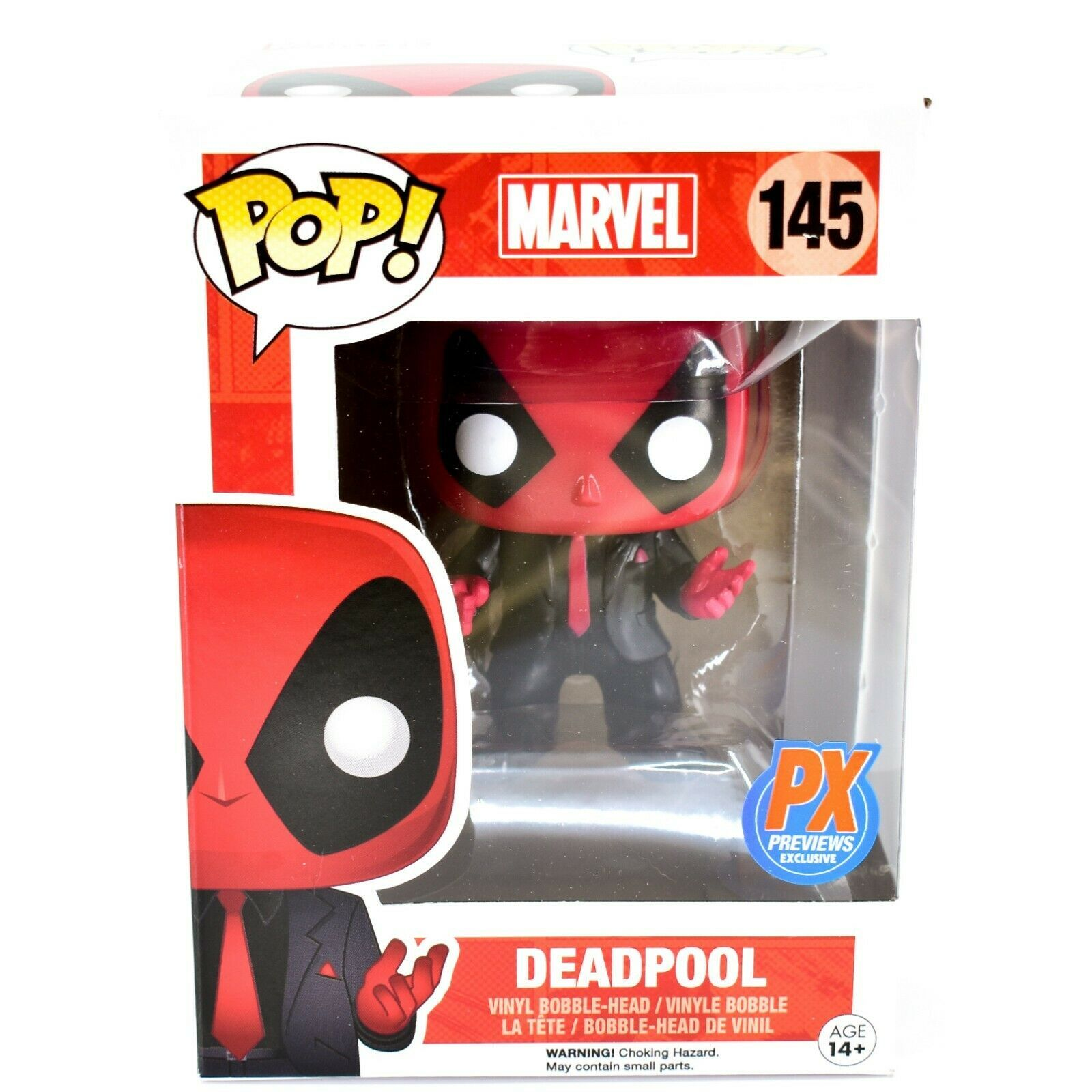 Funko Pop! Marvel Deadpool Dressed to Kill Suit & Tie PX Previews Exclusive #145