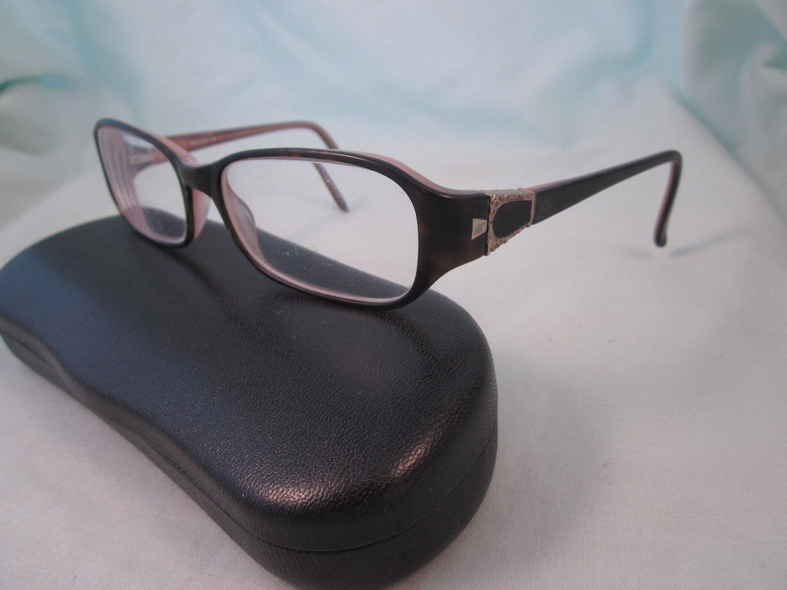 25018f81577 BULOVA Rx Eyeglasses ASHLAND Plastic Full Rim Rectangle Frames ROSE Brown  Gold