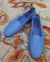 Aerosoles Blue Leather Flats Loafers Comfortable Shoes Slip Ons Size 8 M... - $33.66