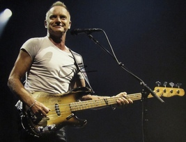 STING AUTOGRAPHED HAND SIGNED 11X14 PHOTO w/COA THE POLICE PHOTO PROOF  - $199.99