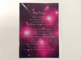 Stay Strong - Spiritual & Inspirational Luxury Quality Greetings Card, 5... - $2.96