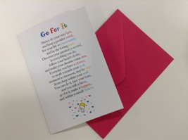 Go For It  - Cute Motivational & Encouragement Luxury Greetings Card, 5x... - $4.21