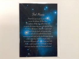 Feel Happy - Spiritual & Inspirational Luxury Quality Greetings Card, 5x... - $2.96