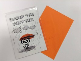 Under the Weather - Humorous Luxury Greetings Card with Funny Poetic Ver... - $4.94