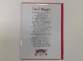 Feel Happy  - Cute Motivational & Encouragement Luxury Greetings Card, 5... - $4.21