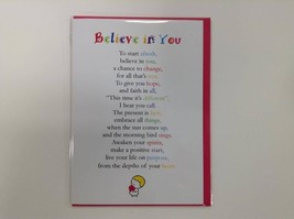 Believe in You - Cute Motivational & Encouragement Greetings Card, 5 x 7... - $4.21