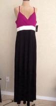 INC Maxi Dress Black Magenta White Spaghetti Straps Flowy XL Romantique.... - $60.78