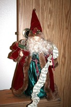 GORGEOUS VICTORIAN SANTA CLAUS TREE TOPPER/TABLE CENTERPIECE - $29.92