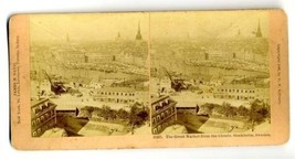 Stereoview Great Market  From the Clouds  Stockholm Sweden - $24.72