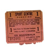 Sport Centre POKERINO Coupon 539 Boardwalk Atlantic City 1950's - $24.72