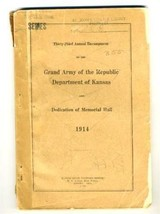 Journal Grand Army of the Republic Department Kansas Annual Encampment 1... - $74.25