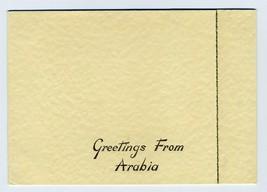 Greetings from Arabia Christmas & New Years Card 1940's Dhahran Saudi Ar... - $44.55